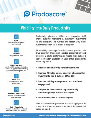 Visibility Into Daily Productivity Partner Sheet