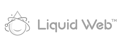 Liquid Web black and white customer logo