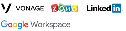 Vonage ZOHO LinkedIn Google Workspace Integration